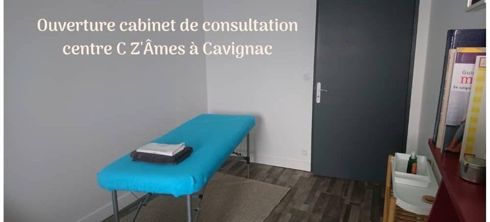 Ouverture cabinet de soins énergétiques au centre C Z'Âmes de Cavignac